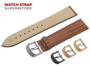 For-CARTIER-Watch-Brown-Strap-Band-Genuine-Leather-Lizard-Style-Buckle-Clasp