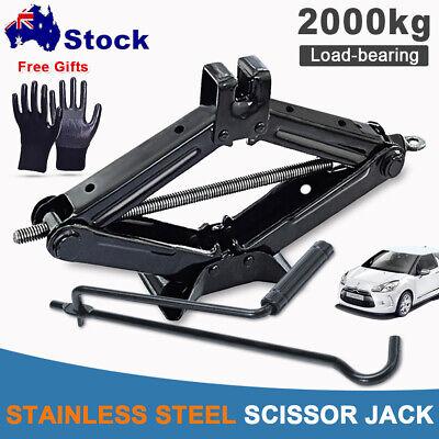 1PC 2 Ton Scissor Jack+Speed Handle Lift For Car Truck VAN Garage Home Emergency