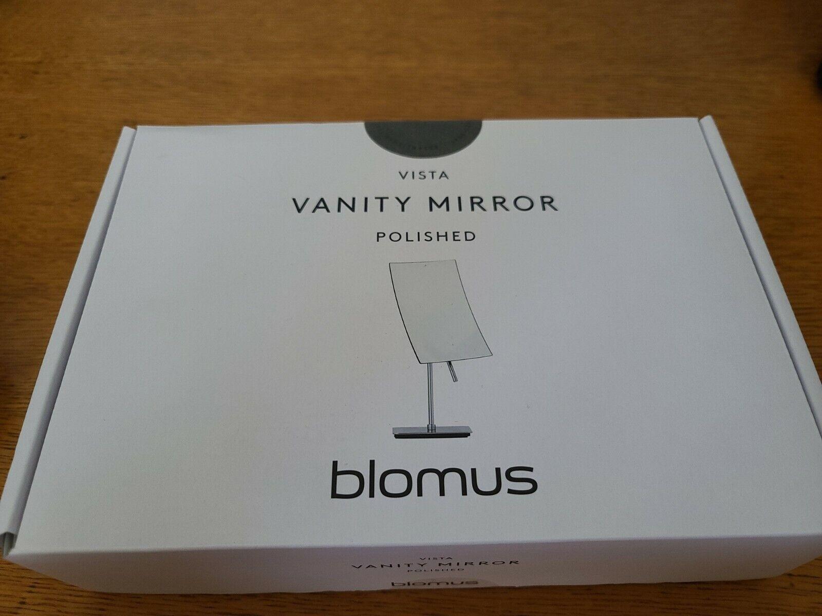Blomus Vista Cosmetic Mirror 5X Magnification, Nickel, Bath Makeup Vanity Stand