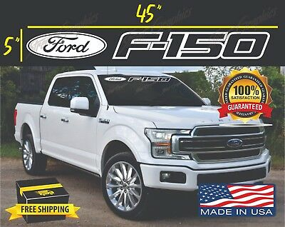 """2 x Super Duty windshield window 36/""""x2.70/"""" banner decal universal fits ford"""