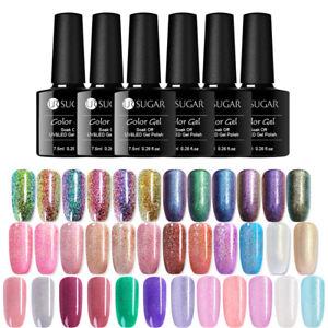 UR-SUGAR-7-5ml-Glitter-Nail-UV-Gel-Polish-Chameleon-Holographic-Nail-Gel-Varnish