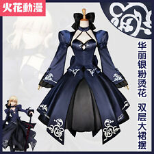 Fate/Zero  Cosplay Costume Black Dark Saber 2nd Anniversary  Formal Dress