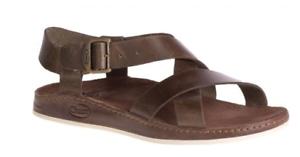f2f1007f612 Image is loading Chaco-Wayfarer-Otter-Leather-Ankle-Strap-Comfort-Sandal-