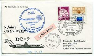 100% De Qualité Ffc 1984 Lufthansa Volo Speciale Onu United Nations Dc-9 Dusseldorf Vienna