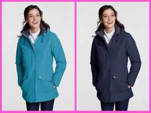 Lands End Classic Squall Parka Women S 2 4 Xs 150 Nip