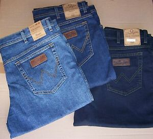Tg Wrangler 3 l34 Stretch Blue Jeans Stone W48 Stonewash Black Texas Mid 1wZp7q