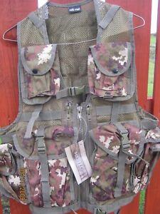 Tactical Assault Gilet Dans Vegetato Woodland Camo 8 Sachets, étui, Neuf-afficher Le Titre D'origine