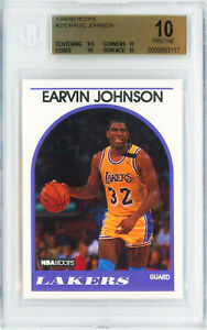 1989-HOOPS-270-EARVIN-MAGIC-JOHNSON-Card-Perfect-BGS-10-Pristine-POP-1-LAKERS