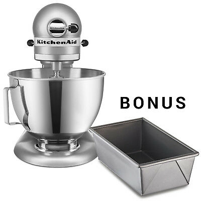 KitchenAid Stand Mixer Ultra Power Tilt-Head  KSM96CU Light Silver + Loaf Pans