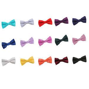 Men-039-s-Bow-Tie-Pre-Tied-Adjustable-Paisley-Floral-Classic-Wedding-Tuxedo-Bowtie