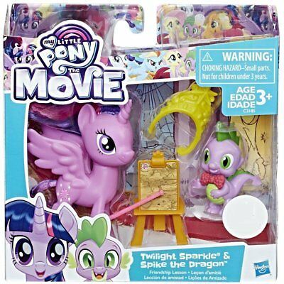 My Little Pony Twilight Sparkle /& Spike the Dragon Friendship Lesson NEW