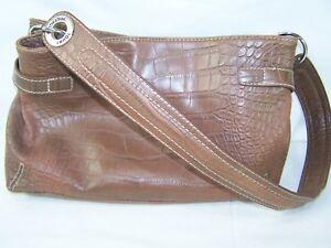 dea6906225 Image is loading Tommy-Hilfiger-Brown-Faux-Leather-Animal-Print-Shoulder-