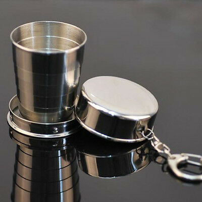 Favored Steel Travel Telescopic Collapsible Shot Glass Emergency Pocket Cup