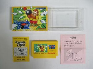 DYNAMITE-BOWL-Boxed-Famicom-NES-Japan-game-Work-fully-10333