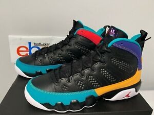 056c56275a7c66 Nike Air Jordan 9 Retro Dream It Do It Black Red Concord Kids ...