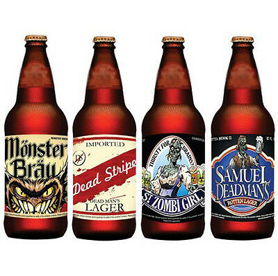 12 Halloween Party Beer Bottle Novelty Labels Label Scary Zombie Funny Decor