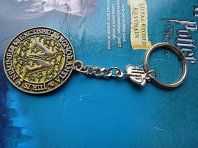 HARRY POTTER ORDER OF  PHOENIX  OFFICAL METAL ETCHED KEYCHAIN  KEYRING NEW