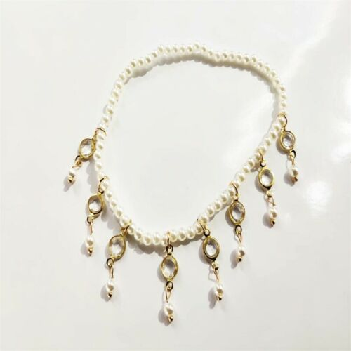 Women Ankle Bracelet Silver Anklet Pearl Foot Chain Beach Beads Jewelry Xmas SA7