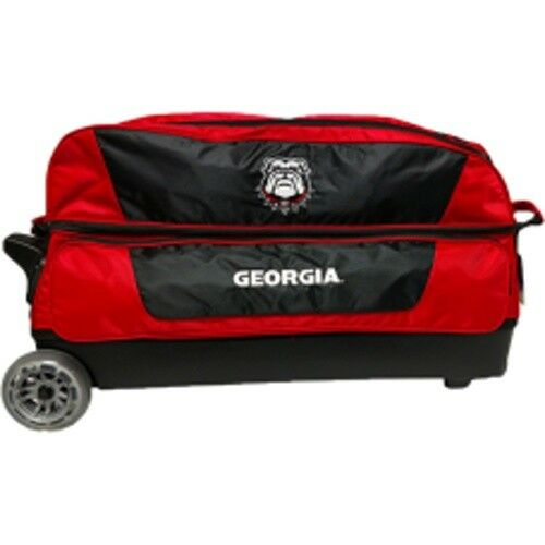 Georgia Bulldogs - NCAA Triple Roller Bowling Ball Bag  FREE SHIPPING