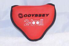 NEW Odyssey red 2 Ball/#7 mallet putter heel/center shaft head cover headcover