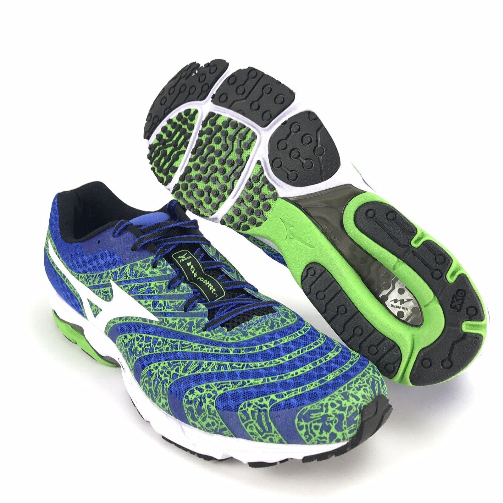 Mizuno Mens Wave Sayonara 2 bluee White Green Running shoes Size 12.5
