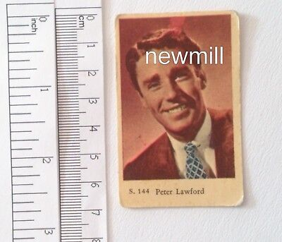 Non-sport Trading Cards Trading Cards Faithful Peter Lawford Alte Trading Card 1957 Film Schweden To Suit The PeopleS Convenience