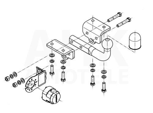 Für Volkswagen Amarok Pickup für Trittbrett Anhängerkupplung starr+ESatz 7pol