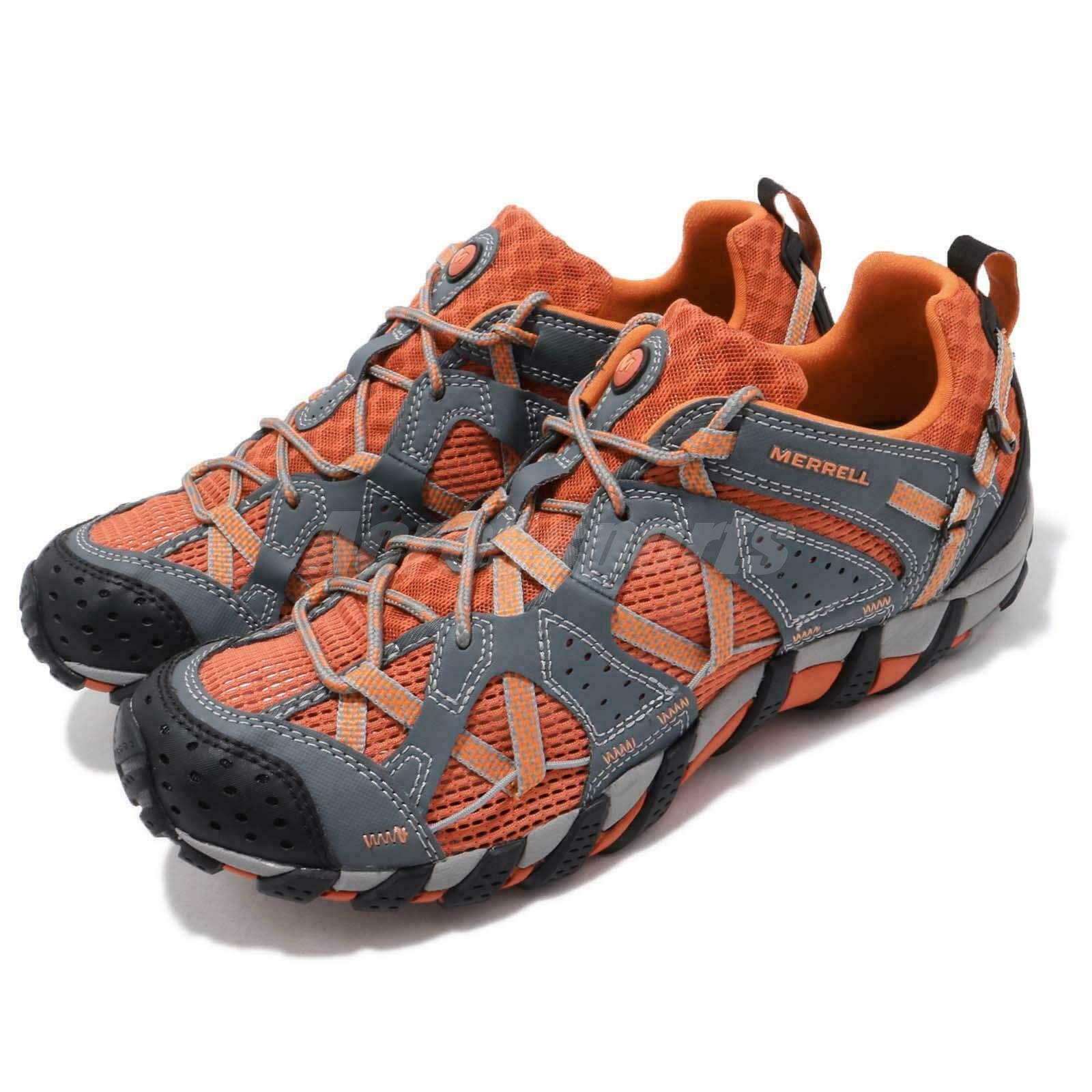 Merrell Waterpro Maipo Grey orange Vibram Men  Hiking Adventure shoes J65229  with 100% quality and %100 service