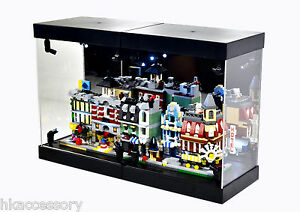 Acrylic display case led light box for lego 10230 mini for Case lego city