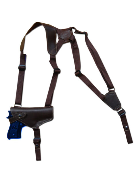 NEW Barsony Horizontal Brown Leather Shoulder Holster Astra Beretta Full Size