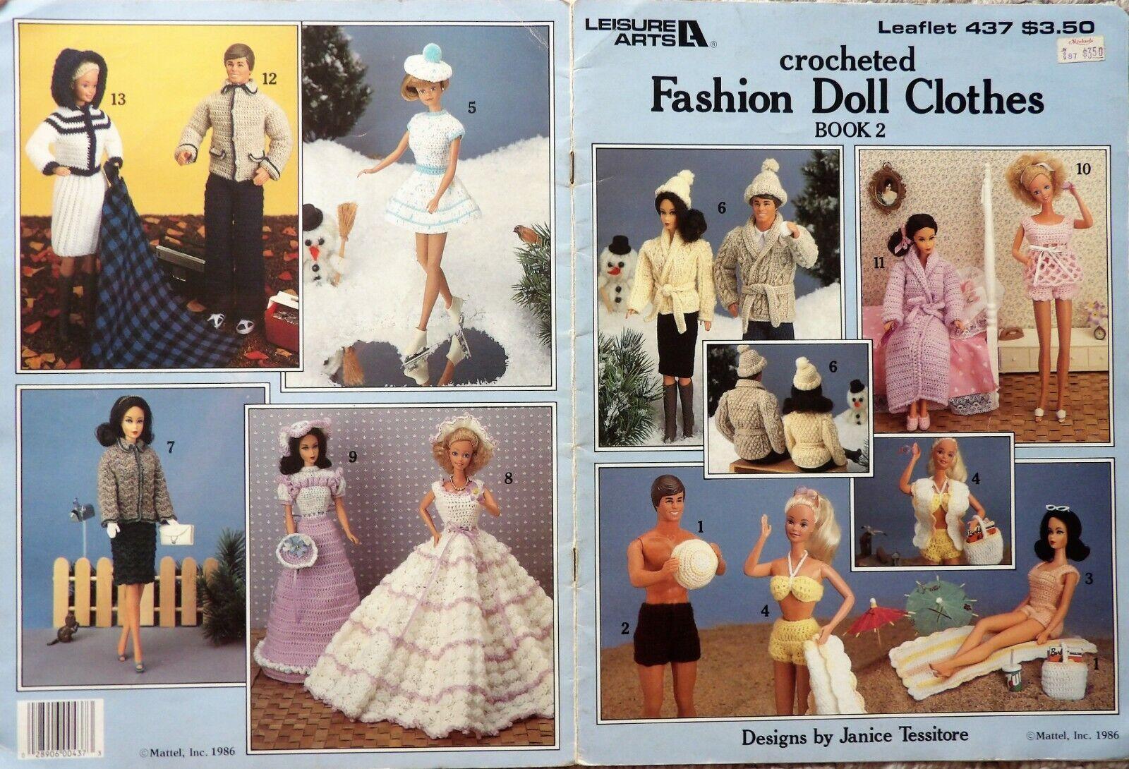 *YOU CHOOSE* Crochet Patterns for Barbie Ken /& Little Sister Clothes