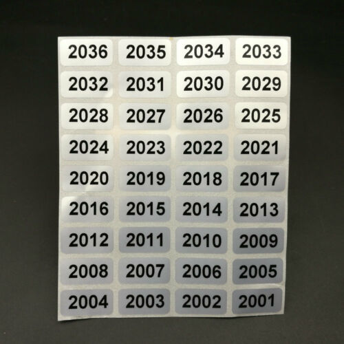 Silver 001 to 10000 Consecutive Sequential Number Labels Sticker ~ Number choice