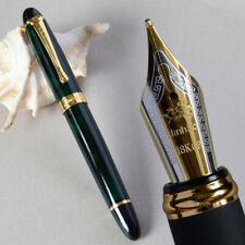 JINHAO X450 Luxury Dark Green Fountain Pen 0.7mm Broad 18kgp Golden Trim