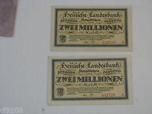 2 million UNC Mark P-104 2,000,000 1923 Germany