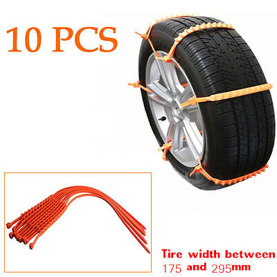 10PCS Snow Tire Chain Car Truck Wheel Tire Antiskid Chains Slip Chains Handy