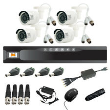 MX CCTV Camera Kit 4 Channel Analog System w/ Analog Camera DVR BNC DC pin -Set6