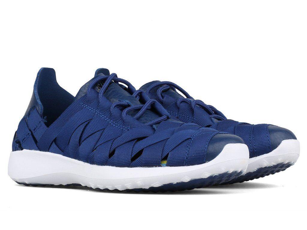 Nike donne blu / bianco juvenate tessuti costiere 833824-401 sz - 8 scarpe