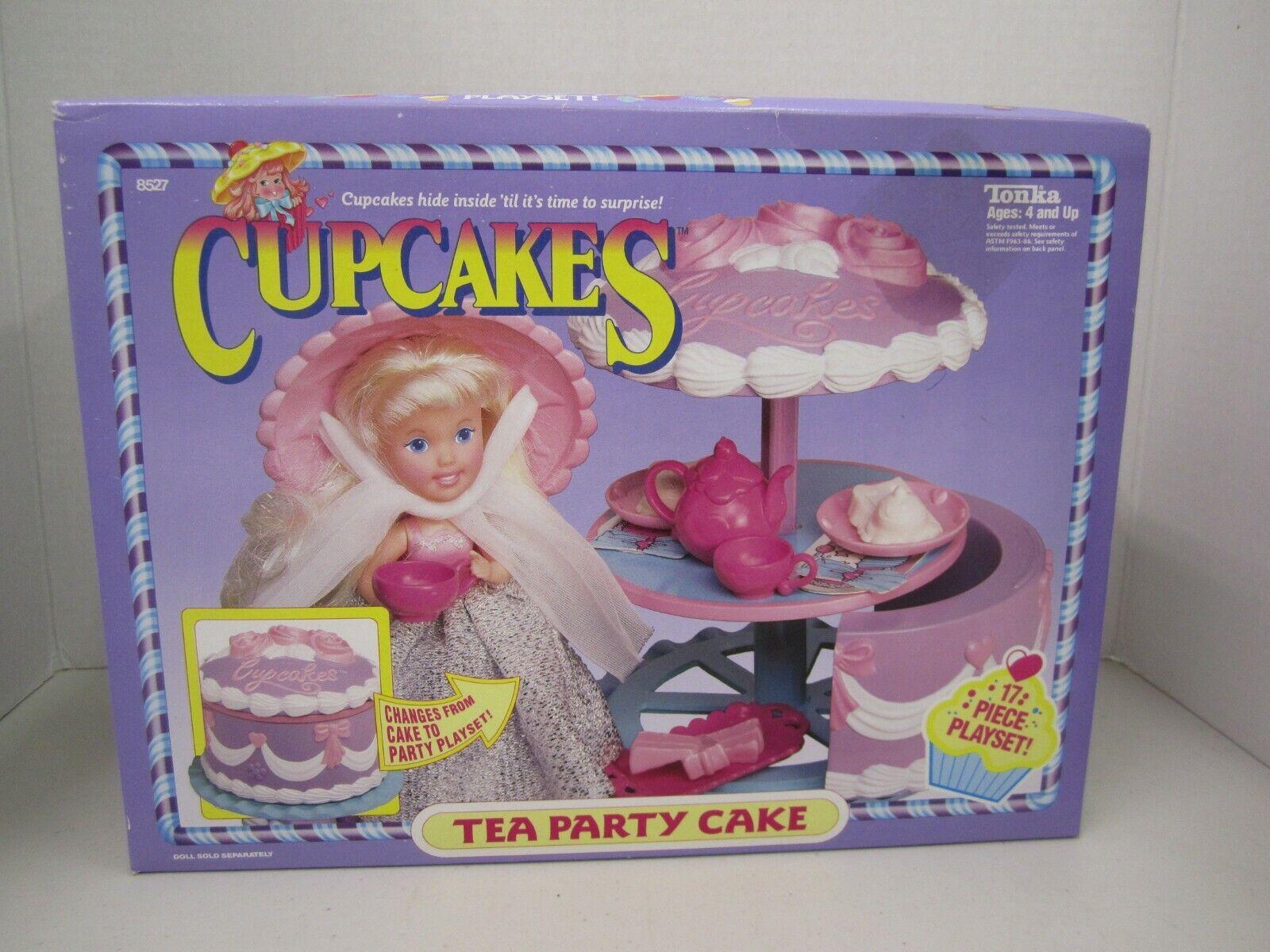 Pastel De Cupcakes -  Tea Party  - cambios de Pastel para Fiesta Playse - 1991 Tonka