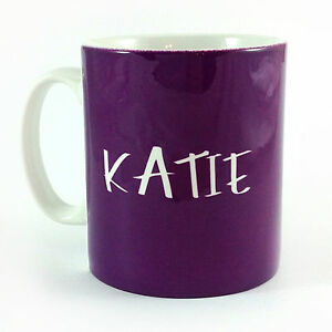PURPLE-PERSONALISED-WITH-ANY-NAME-GIFT-MUG-CUP-PRESENT-LOVER-COLOUR-WEAR-PLUM