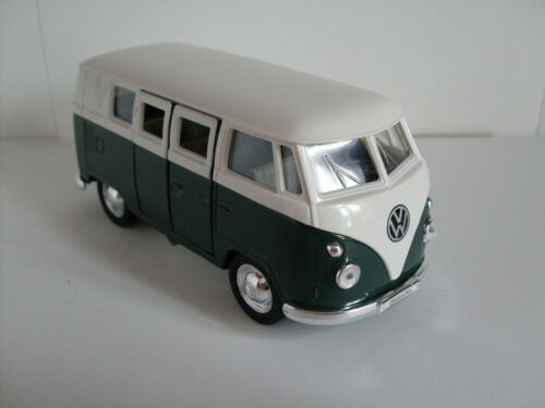 1962 Welly Auto Modell ca.1:38 Neu OVP VW Microbus grün//weiß
