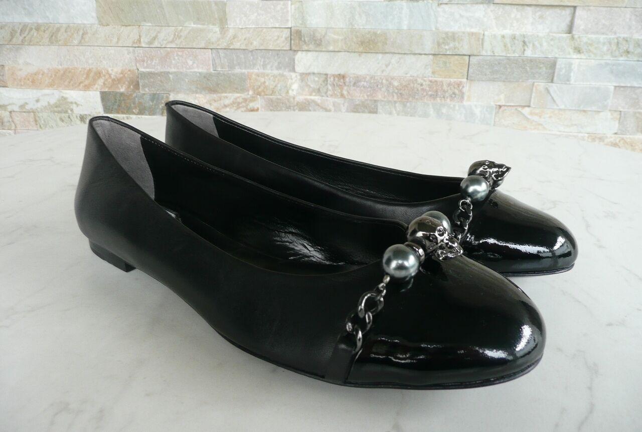 Philipp PLEIN n. 35,5 Ballerine slipper scarpe scarpe scarpe teschio nero NUOVO UVP 1903b1