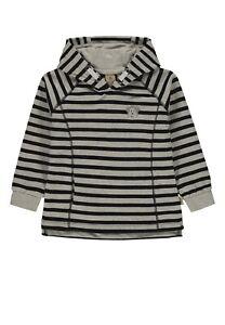 Bellybutton Hoodie Sweatshirt mit Kapuze grau blau Ringel Jungen 1963413 Neu