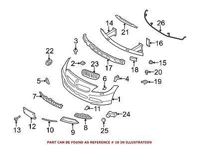 Genuine BMW Z4 Roadster E89 Z4 18i 20i 23i 28i Finisher Rod Left 51117203795