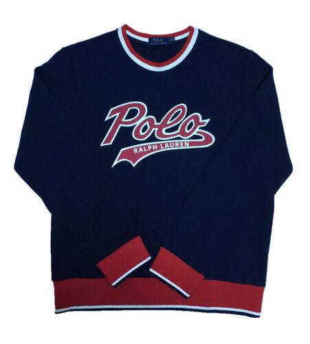 XL Mens Polo Ralph Lauren Script Vintage Crew Neck Navy Sweatshirt Sizes L