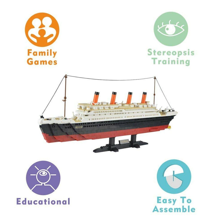 SuSenGo Titanic Building Block Kit 1021 Piezas Ladrillos