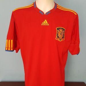 6a3ed59643b Spain 2010 - 2011 Home Shirt Size XL World Cup 2018 adidas