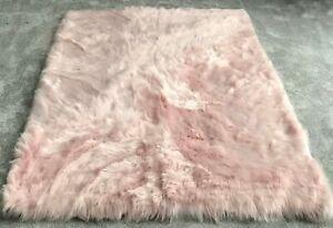 Over-Size-Super-Soft-Fluffy-Sheepskin-PLAIN-Faux-Fur-Rugs-Carpet-Mat-150X200cm