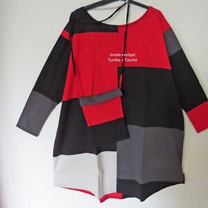 Tasche Schwarz longue rot Tunika Chemise Coole 3 Patch 54 Boris Industries 50 f6c1Uq