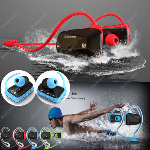 Bluetooth Wireless Sport Stereo Waterproof Swimming Headset Headphone Earphone R