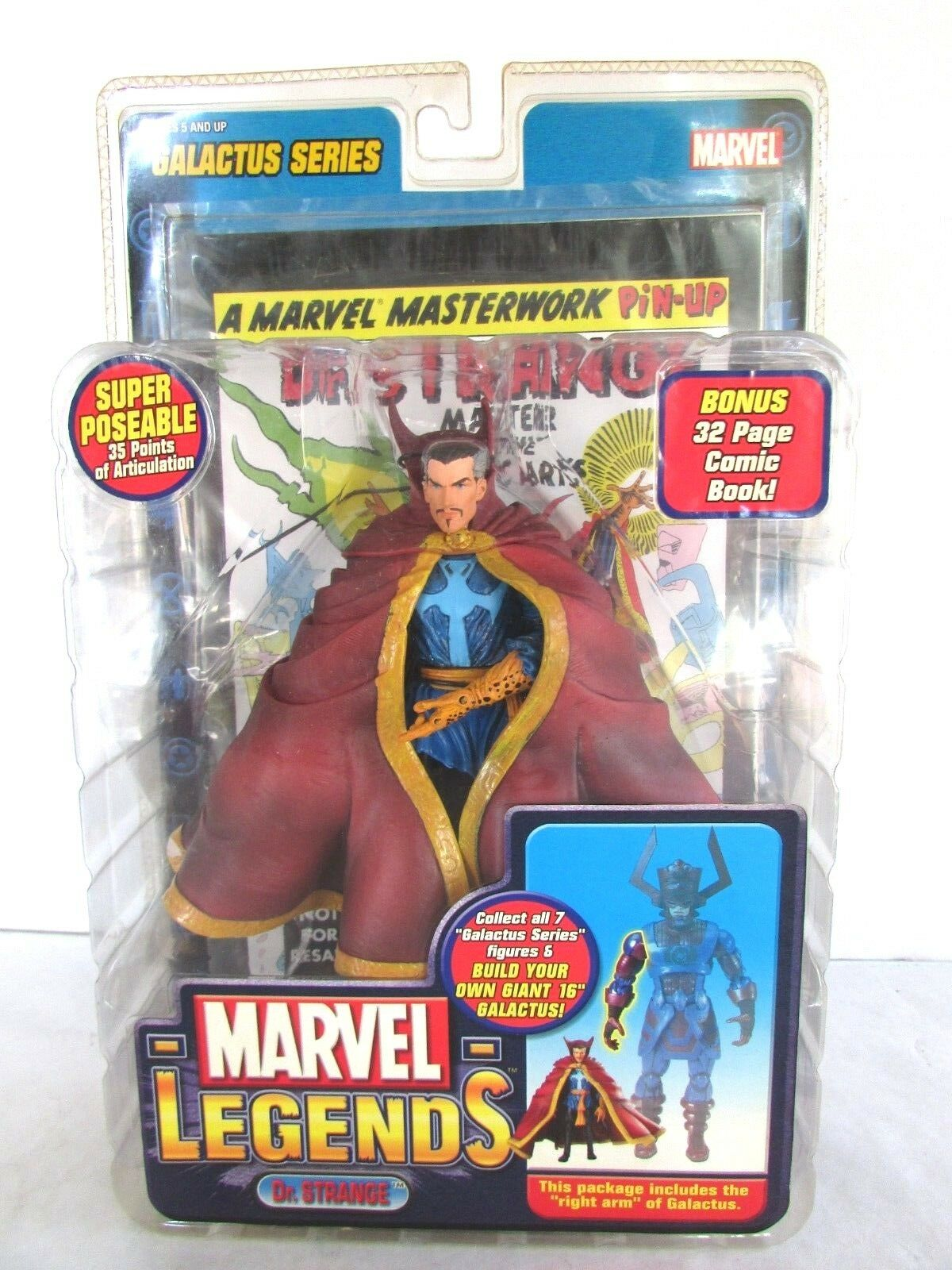 Marvel Legends Super Poseable Dr. Strange - 2005 - Galactus - Bonus Comic Book